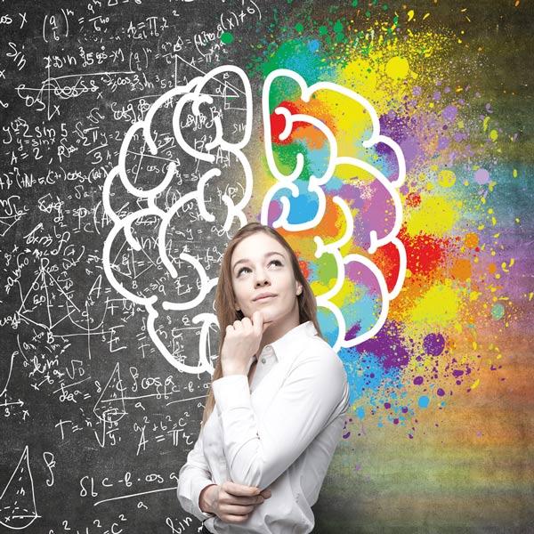 Cefabrain- Frau mit Gehirn
